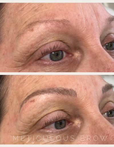 feather stroke eyebrows