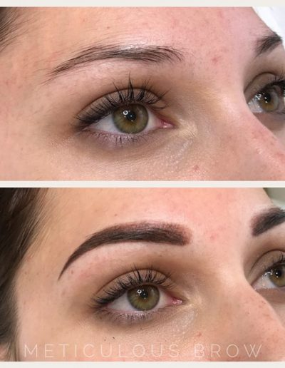 ombre powder eyebrow tattoo