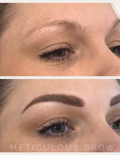 natural powder brow tattoo
