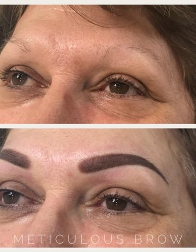 ombre eyebrow tattoo