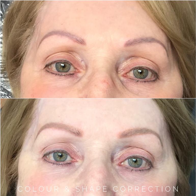 eyebrow tattoo corrections