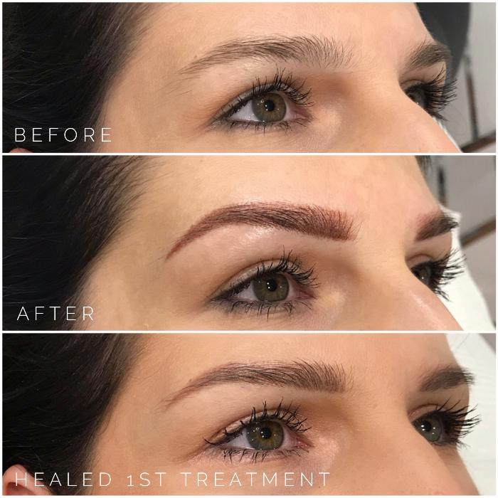eyebrow tattoo process